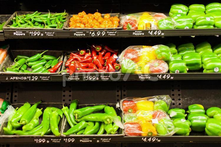 アメリカの野菜売り場の写真