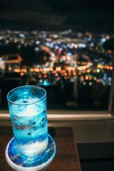 Hakodate night view and drinks