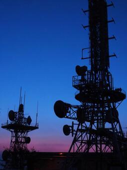 Morning radio tower
