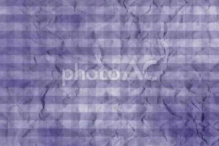 しわのある和紙 彩雲 ギンガムチェック柄 ちぢれ 凸凹 テクスチャ 40の写真