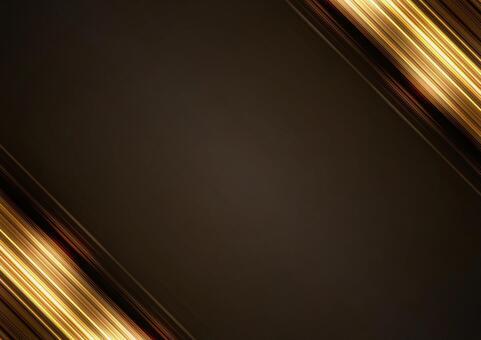 Shiny ribbon-like frame material (gold)