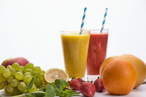 Red and yellow smoothie 6