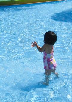 It's summer! It's a pool! Feels good!