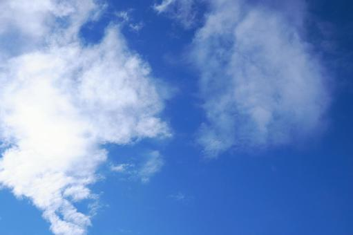 Blue sky with clouds Background material of sky