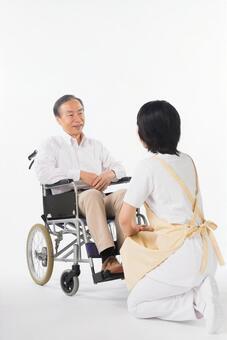 Men and nurses on a wheelchair 40