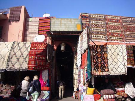 Carpet shop in Marrakech, Morocco