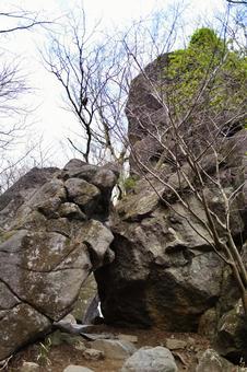 쓰쿠바 산의 절벽