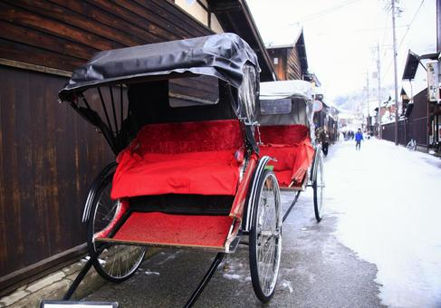 Waiting for a customer rickshaw