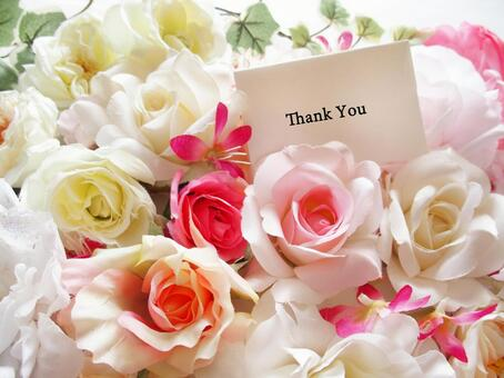 Flowers and Thank You card