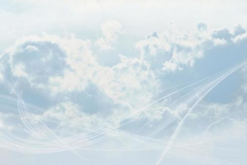 天空和云波