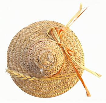 Cutout material miscellaneous goods mini straw hat 1