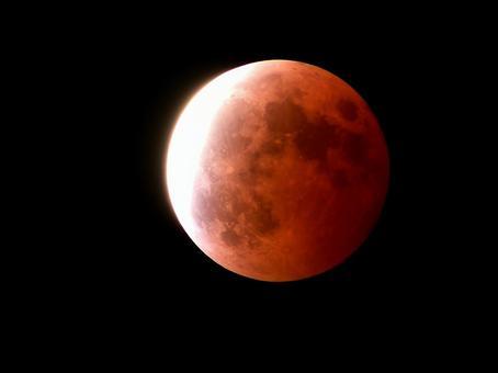 Partial lunar eclipse (aged 14.2)