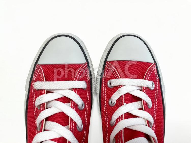 ファッション-赤いスニーカーの写真
