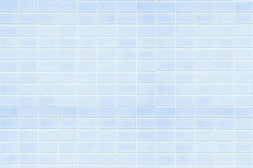 Light blue brick tile | Free wall background material | Horizontal position