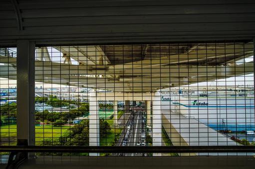 요코하마 베이 브리지 스카이 워크에서 보이는 요코하마 항