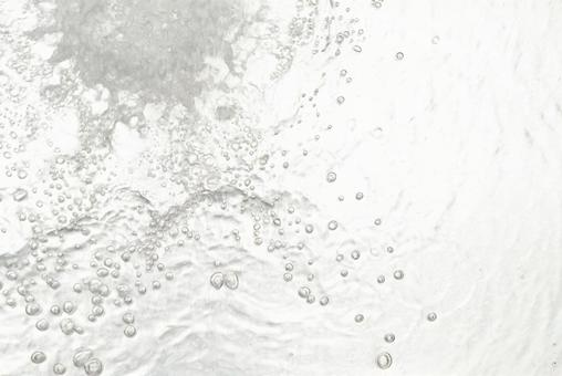 Water bubbles running water