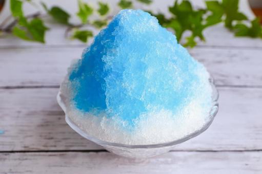 刨冰藍色夏威夷夏天形象