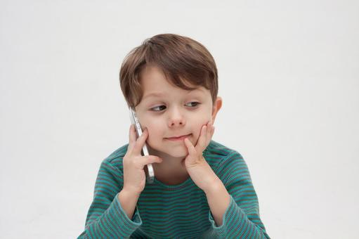 A smartphone and a boy 1