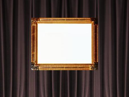 背景和帧照片(窗帘15)