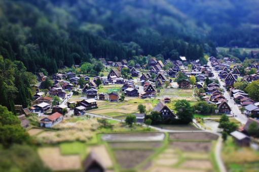 Shirakawago Gakuen-jo Fabricated village Diorama style