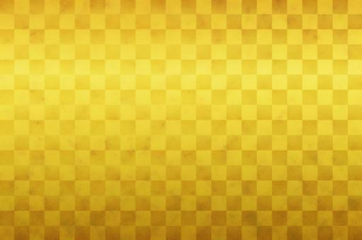 Checkered gold folding screen
