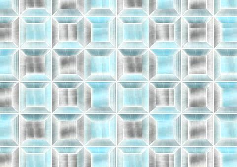 Geometric pattern blue 01
