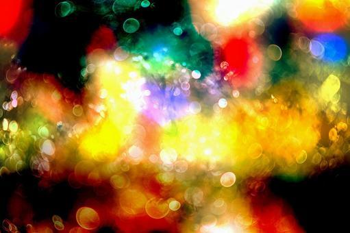 Christmas color light blur