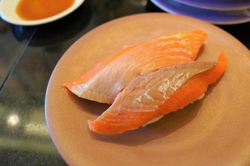 Delicious salmon sushi
