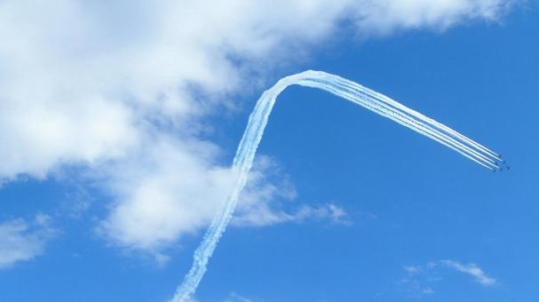 Blue Impulse Air Festival Contrail Blue Sky