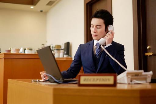 Hotel man receiving a call 5