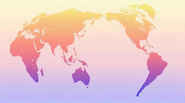 World map (gradation)