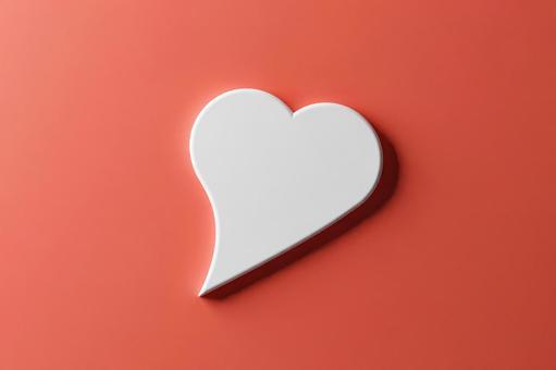 Heart-shaped speech bubble