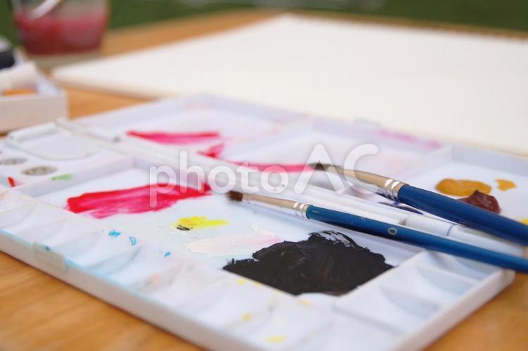 絵の具の写真