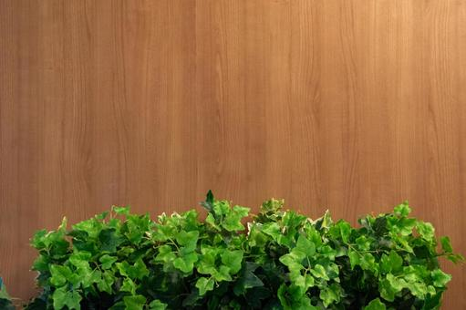 Green and beautiful wood grain background Material image