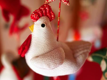Chirimen-crafted chicken