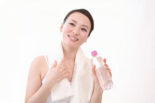 Female with plastic bottle 5