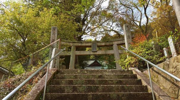 Stone steps of Usuyama Hachiman Shrine