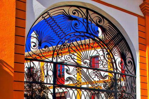 Beautifully decorated gate