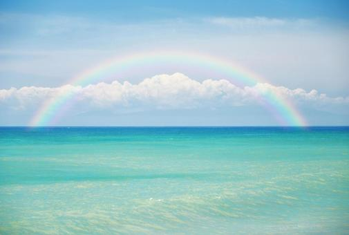 Rainbow and summer sea