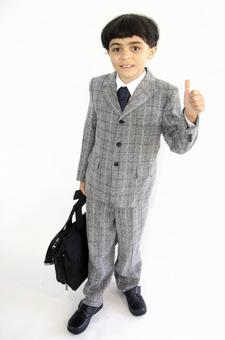 Child with a suit with a bag 2