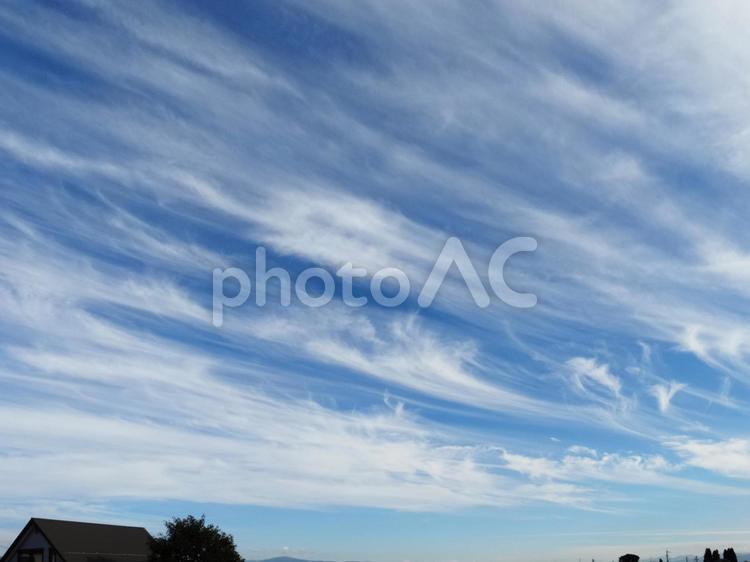 秋空と巻雲の写真