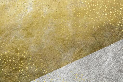 Gold and silver Japanese paper_Background material_Confetti