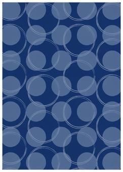 Scandinavian design big dot blue