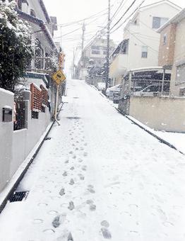 下雪天的小山