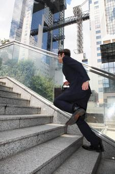 Running businessman 1