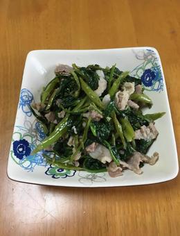 공심 채소 볶음 오키나와 요리 가정 요리