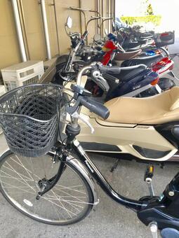 自行车存放自行车