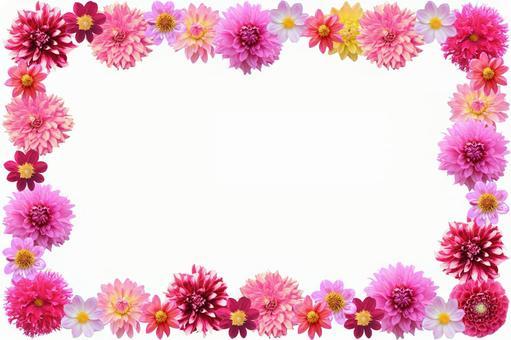 Flower frame Dahlia 3