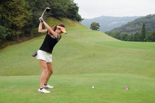 Golf girl's tee shot series 4