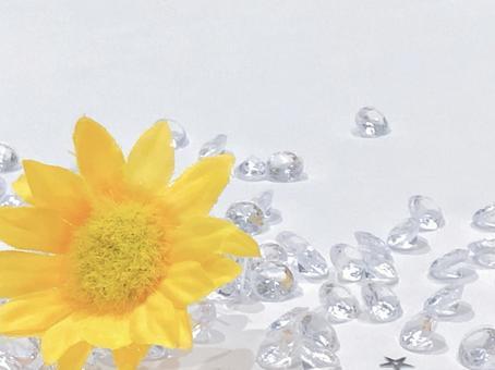 Glitter sunflower